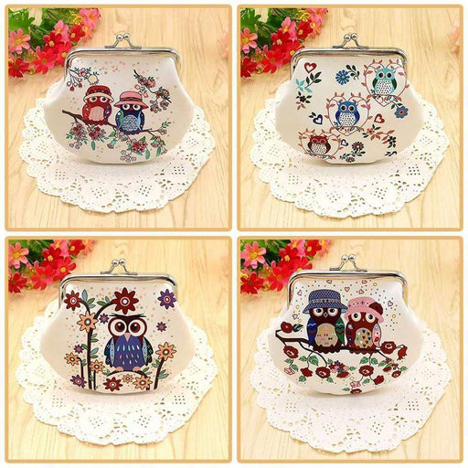 New Girls Ladies Owl Family Coin Purse Mini Wallet Small Money Bag - The Fashion Gift Shop Ltd