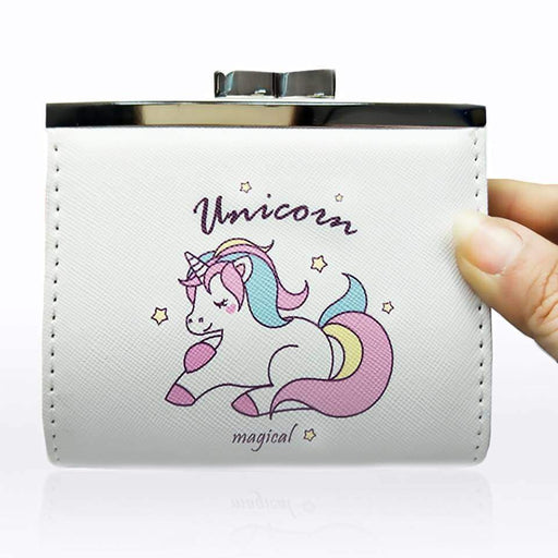 New Girls Ladies Unicorn Clutch Coin Purse Faux Leather Large Money Clip Gifts - The Fashion Gift Shop Ltd