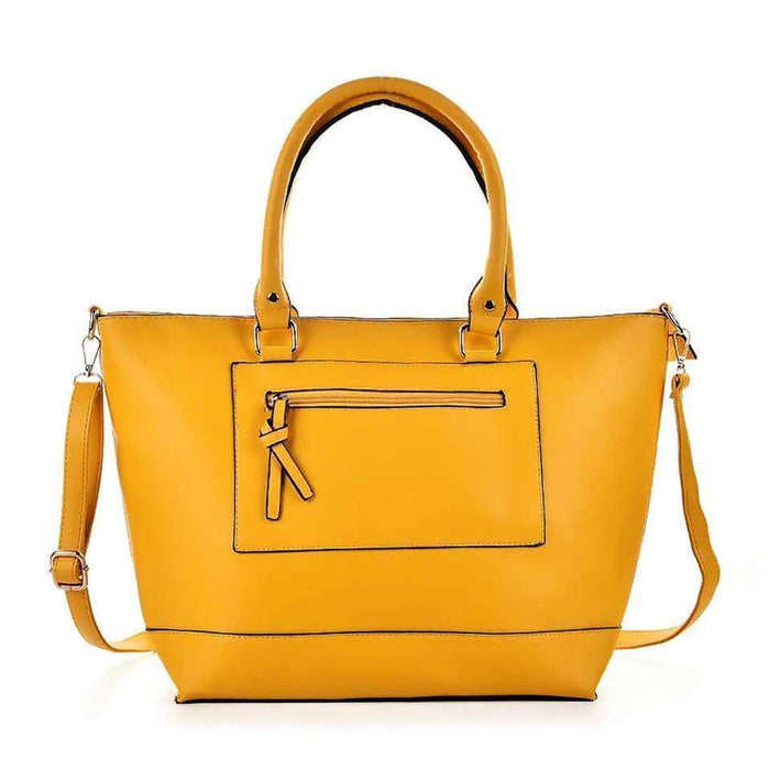 New High Quality Ladies Large Handbag Faux Leather Shoulder Bag Tote - The Fashion Gift Shop