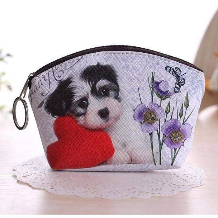 New Ladies Girls Cute Kitten Sweet Puppy Design Large Coin Purse Wallet - The Fashion Gift Shop Ltd