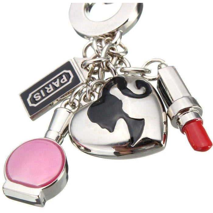 New Ladies Girls Fashion Keyring Charms Key Accessory Bag Charm Gift - Gift Shop UK
