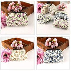 New Ladies Girls Floral Coin Purse Ditsy Girls Money Pouch Wallet