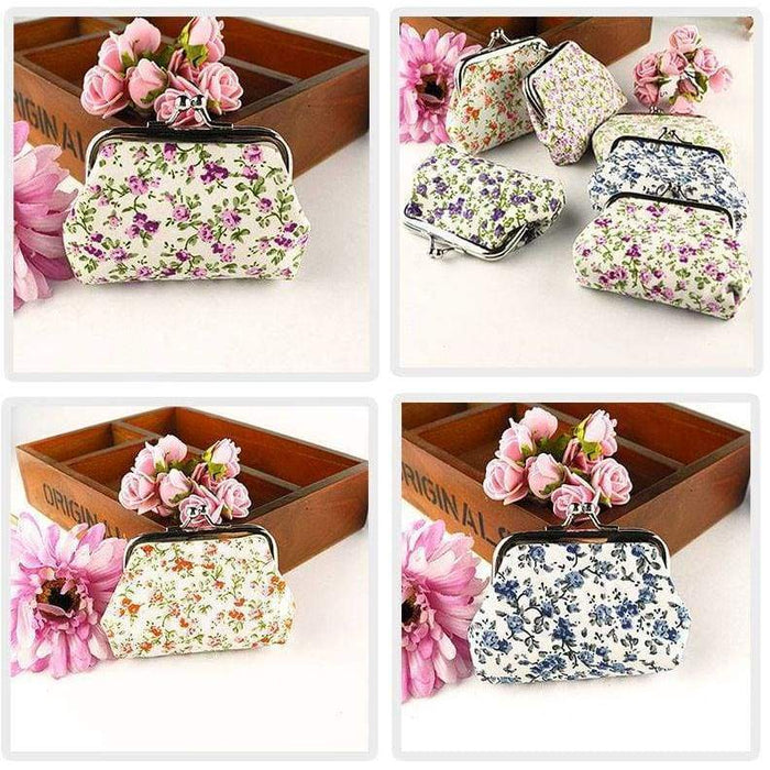 New Ladies Girls Floral Coin Purse Ditsy Girls Money Pouch Wallet - The Fashion Gift Shop
