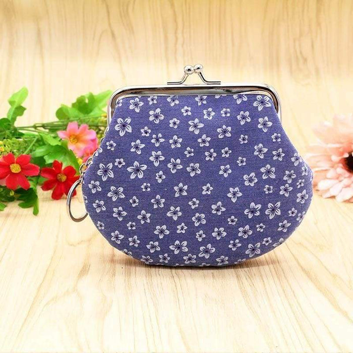 New Ladies Girls Floral Large Coin Purse Mini Wallet Sweet Gift Stocking Filler - Gift Shop UK