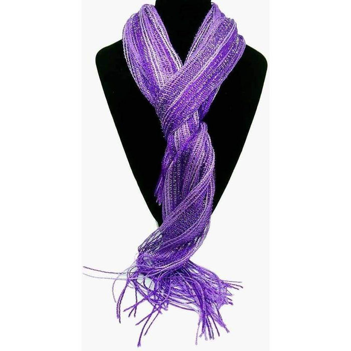 Ladies Shimmer Sparkly Scarves with Tassels - The Fashion Gift Shop