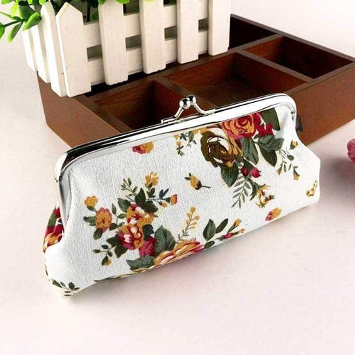 New Ladies Vintage Style Coin Purse Floral Money Pouch Rose Clutch Gift - The Fashion Gift Shop Ltd