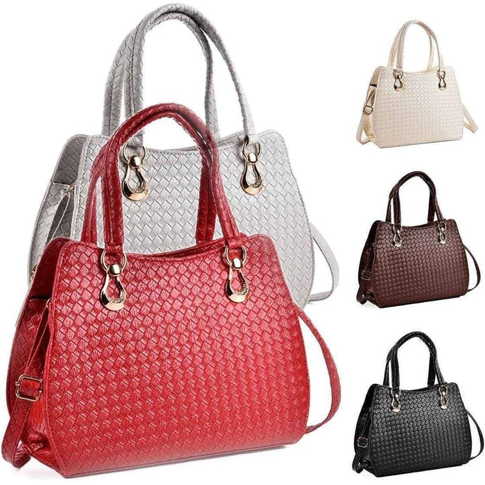New Ladies Womens Chic Handbag PU Leather Textured Shoulder Bag - Gift Shop UK