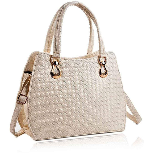 New Ladies Womens Chic Handbag PU Leather Textured Shoulder Bag - The Fashion Gift Shop Ltd