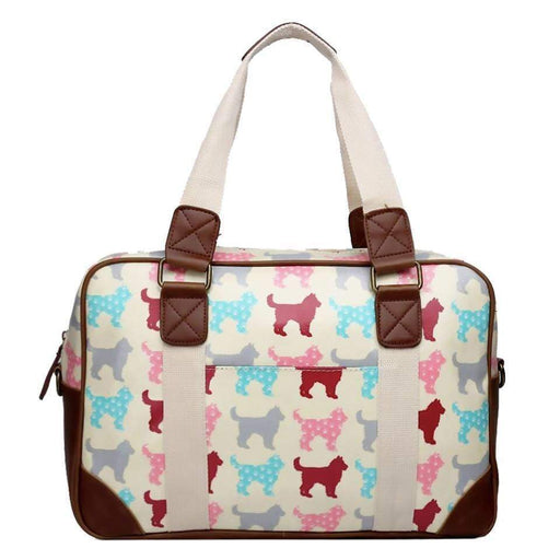 New Large Printed Handbag Dogs Tote Bowler Change Bag - The Fashion Gift Shop Ltd