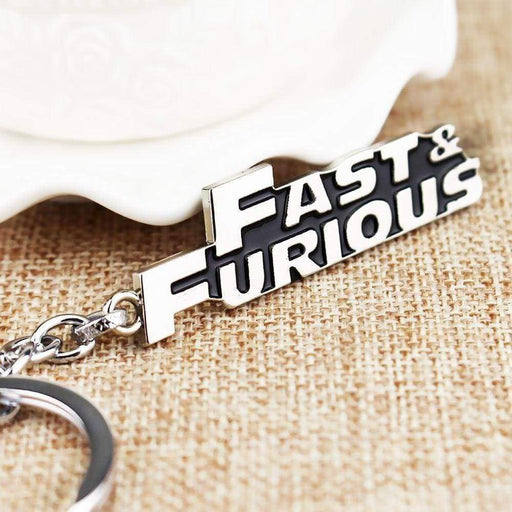 New Mens Womens Silver Fast & Furious Keyring Metal Logo Key Chain - The Fashion Gift Shop Ltd