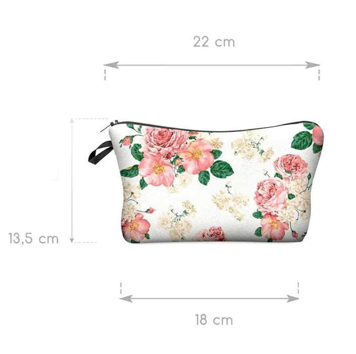 New Padded Vintage Flower Print Cosmetic Travel Makeup Bag - The Fashion Gift Shop Ltd