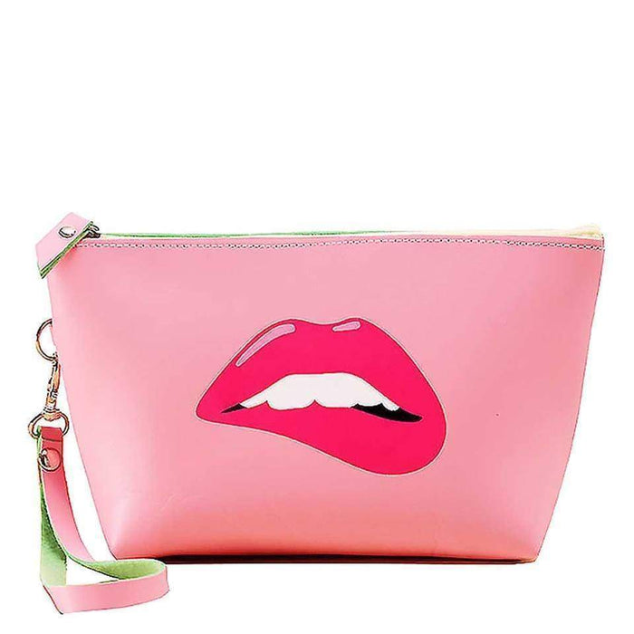 New Pink Faux Leather Coin Purse Lip Wallet Glamour Money Pouch - Gift Shop UK
