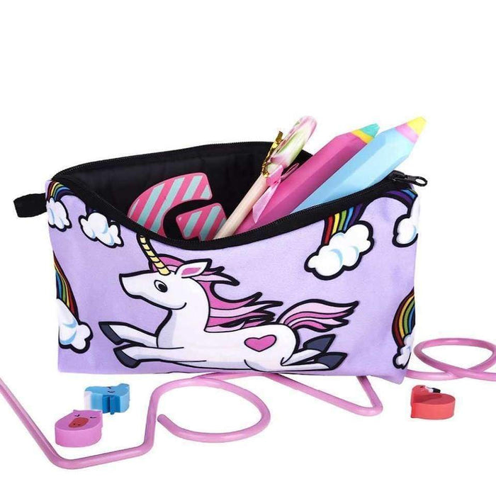 New Purple Unicorn Makeup Cosmetic Bag Rainbow Holiday Travel Accessory Pouch - The Fashion Gift Shop Ltd