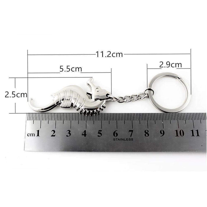 New Silver Seahorse Keyring Solid Metal Key Chain Fob Gift - The Fashion Gift Shop Ltd