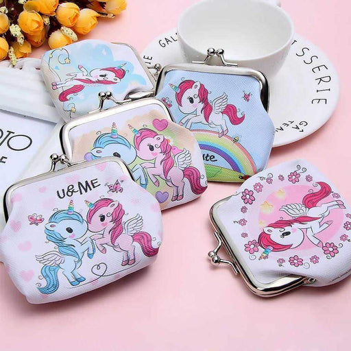 New Unicorn Stars Flowers Coin Purses Dinner Money Party Favours Small Waller - The Fashion Gift Shop Ltd