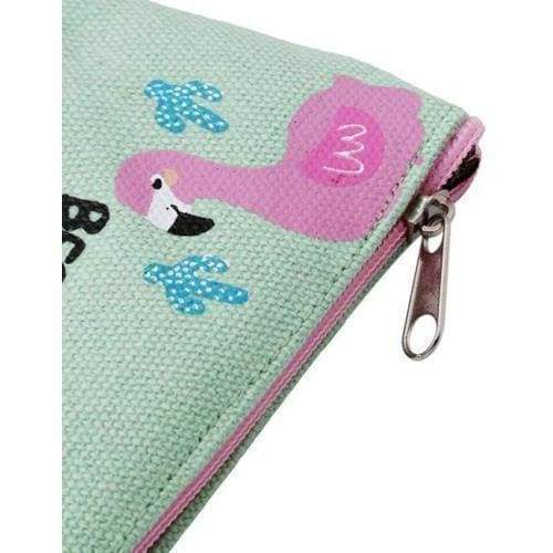 New Woman Gilrs Flamingo Purse Coin Wallet Canvas Pouch Weekend Coin Purses - Gift Shop UK