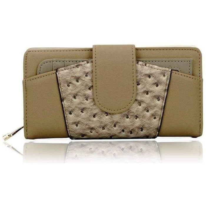 New Women Bi Fold Card Cash Wallet Ladies Patchwork Long PU Purse - Gift Shop UK