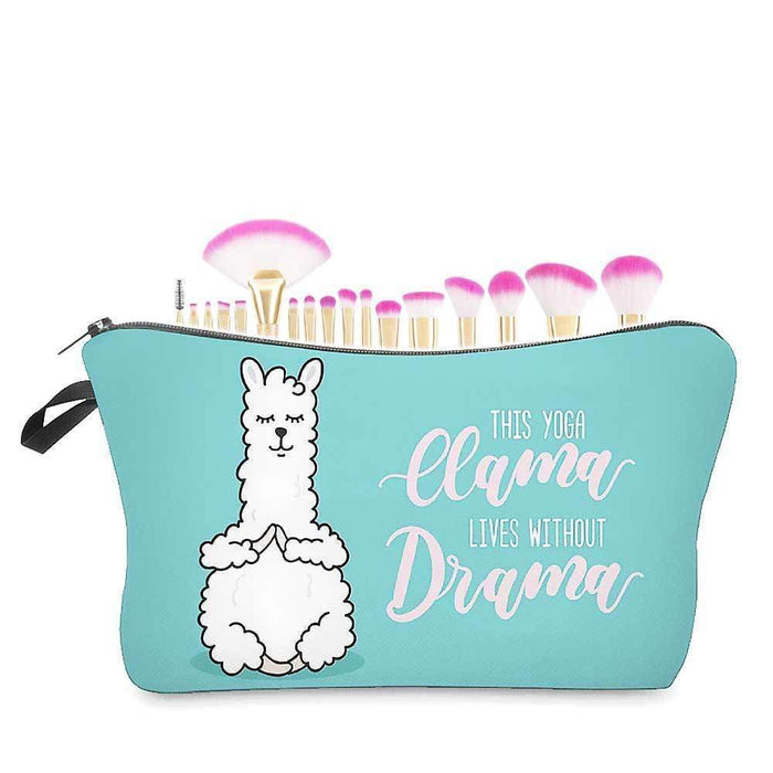 New Yoga Llama Cosmetic Makeup Travel Bag Stylish Pencil Case - Gift Shop UK