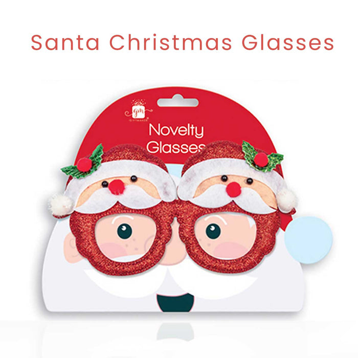 Novelty Christmas Glasses Santa Snowman Festive Fancy Dress - The Fashion Gift Shop