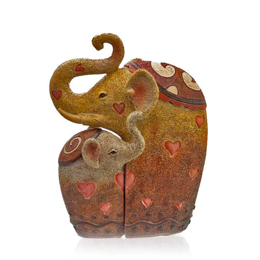 Pair Of Cuddling Elephants Boxed Ornamental Gifts - Gift Shop UK