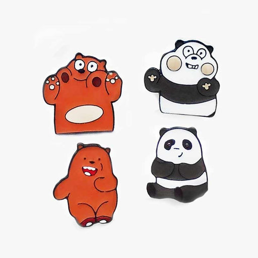 Panda Bear - Brown Bear Pin Badges Sets - Gift Shop UK