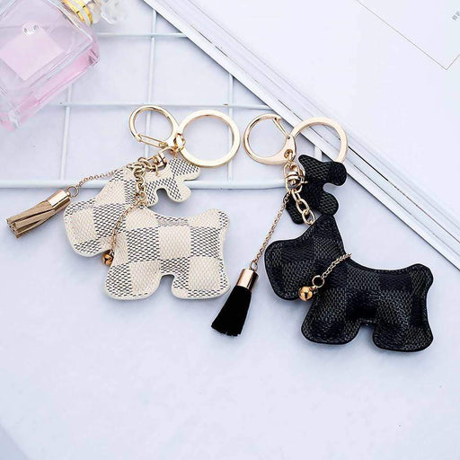 Patchwork Scottie Dog Puppy Scottish Terrier Keyring Handbag Charm - The Fashion Gift Shop Ltd