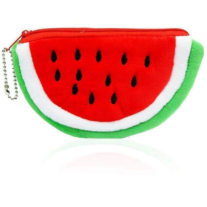 Plush Fruits Watermelon Pineapple Coin Purses Girls Boys Dinner Money Wallets - The Fashion Gift Shop Ltd