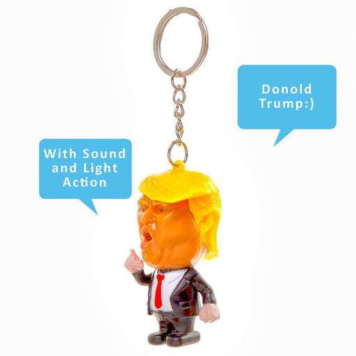 President Donald Trump Keyring with LED Light and Sound - The Fashion Gift Shop