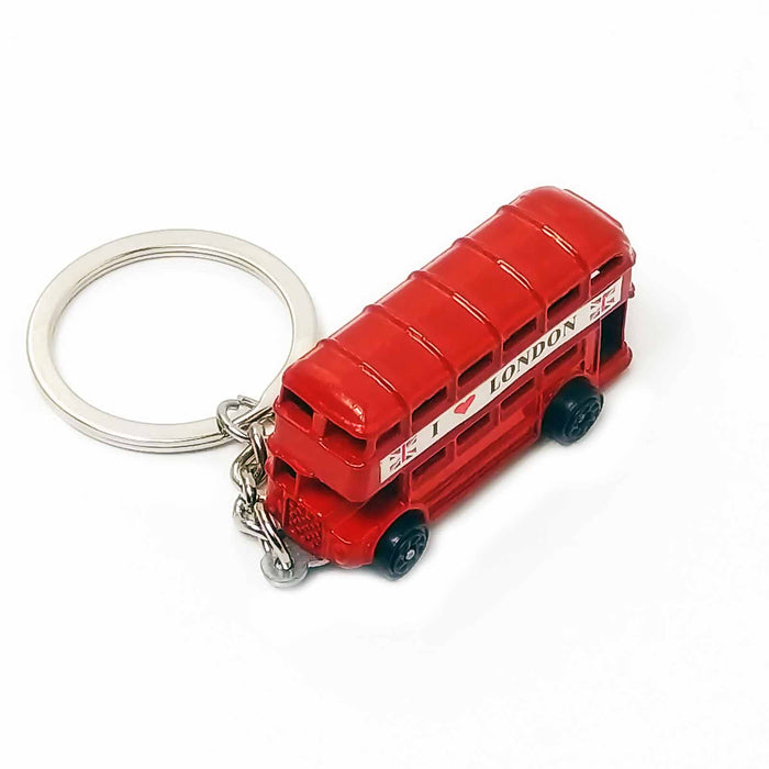 I Love London Red Double Decker Buses Keyrings - Gift Shop UK