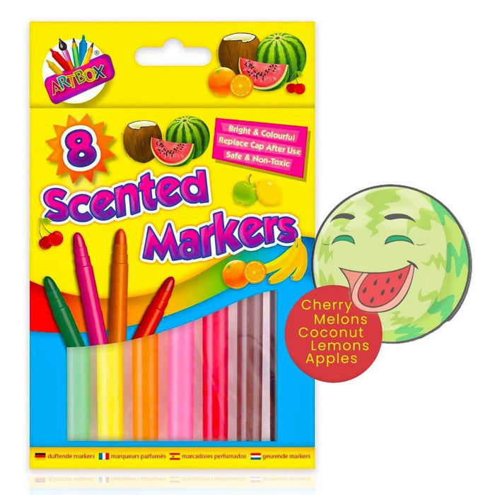 Scented Markers Felt Pens 8 Pack Colouring Art And craft - Gift Shop UK