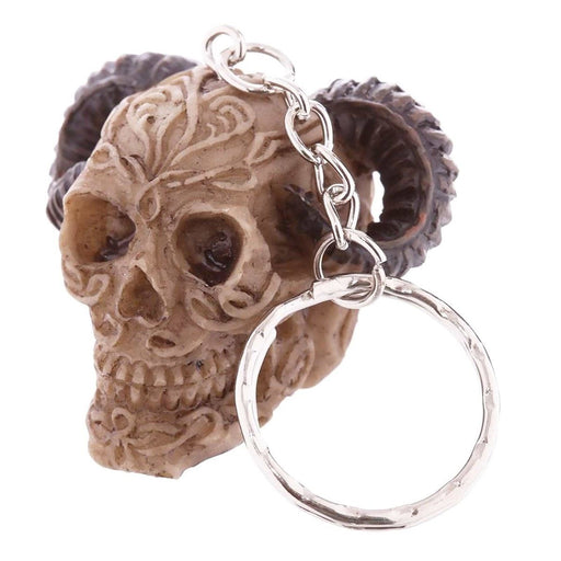 Skull Keyring Halloween Resin Fun Gothic Keychain Gift - The Fashion Gift Shop Ltd