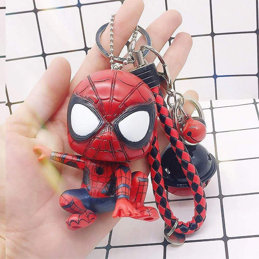 For Him Large Spiderman Keyring Gift With Rope and Bells - The Fashion Gift Shop Ltd