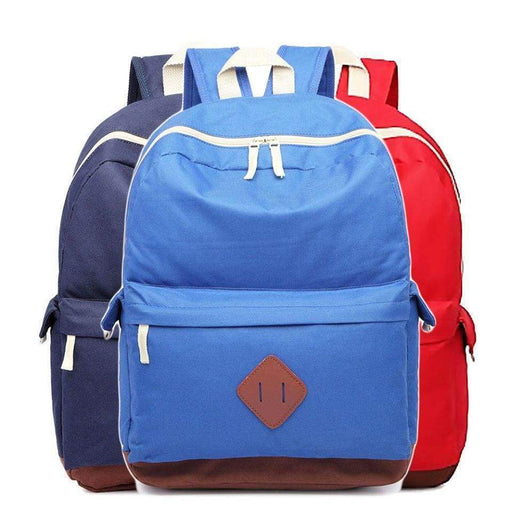 Strong Canvas Backpack School Bag Rucksack Water Resistant - Gift Shop UK