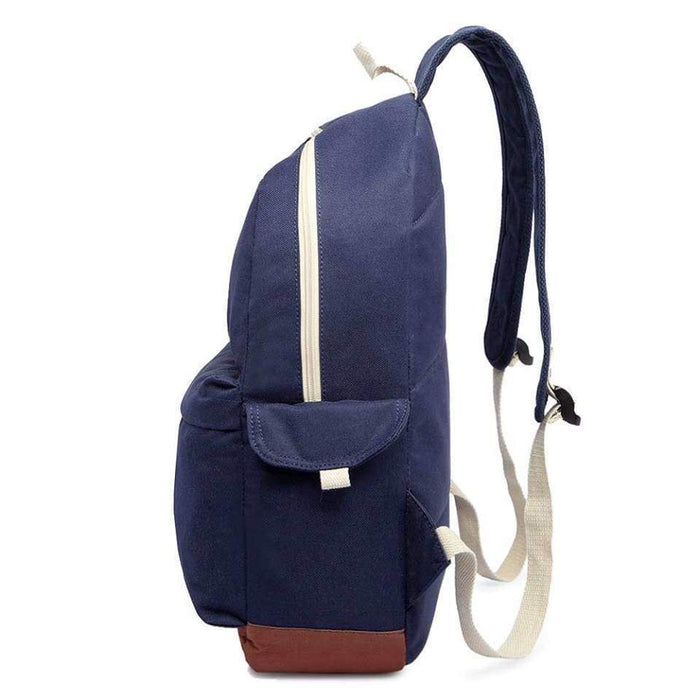 Strong Canvas Backpack School Bag Rucksack Water Resistant - The Fashion Gift Shop Ltd