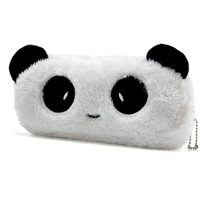 Stunning Plush Pencil Cases Panda Bear Face Design Back to School Gifts - The Fashion Gift Shop Ltd