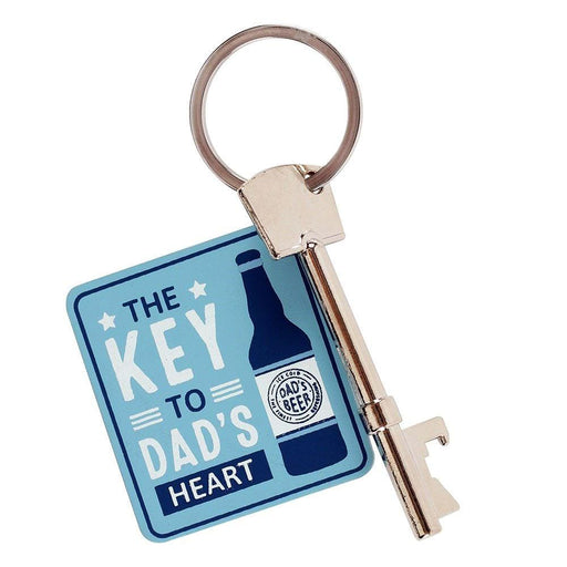The Key To Dad's Heart - Fathers Day Gift - Bottle Opener Keyring Gifts - The Fashion Gift Shop Ltd