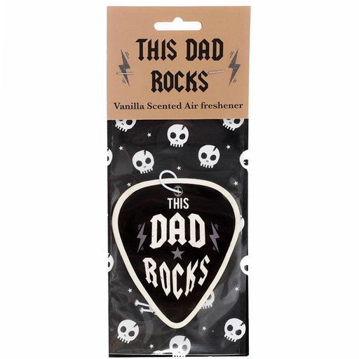 This Dad Rocks Car Vanilla Scented Air Freshener Fathers Day - Birthday Gift - Gift Shop UK