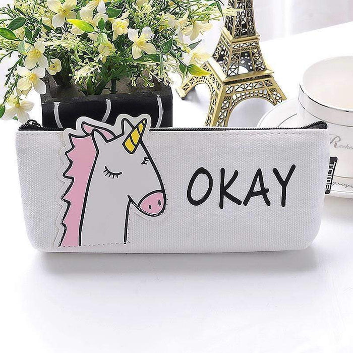 Unicorn Pencil Case Cosmetic Zipped Bag Wallet UK Seller Party Bag - The Fashion Gift Shop Ltd