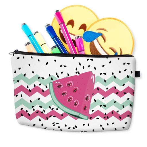 Watermelon Cosmetic Bag Rainbow Makeup Pencil Case Holiday Travel Pouch - The Fashion Gift Shop Ltd