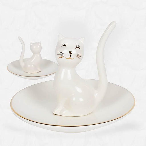 White Cat Jewellery Trinket Dish - The Fashion Gift Shop