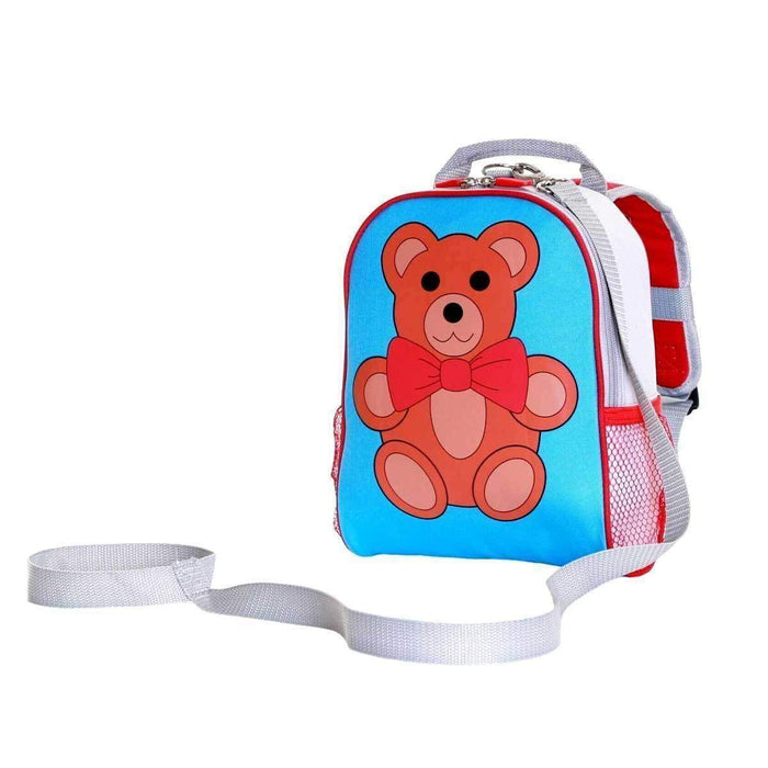 Wobbly Forest Teddy Bear Toddlers Backpack With Reins Padded Shoulder Straps