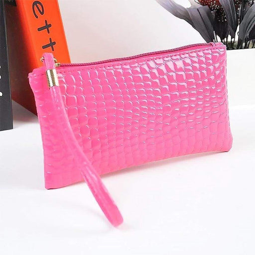 Women's Mock Croc Cosmetic Clutch Bags Cash Glasses Case - The Fashion Gift Shop Ltd