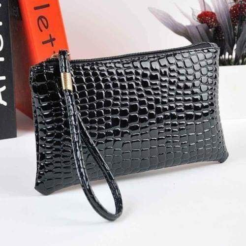 Women's Mock Croc Cosmetic Clutch Bags Cash Glasses Case - The Fashion Gift Shop