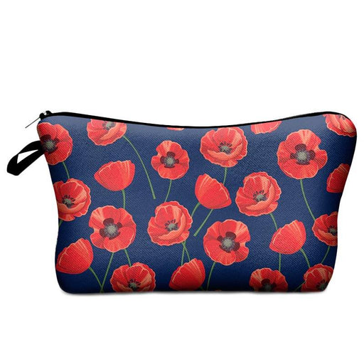 Women's Poppy Flower Cosmetic Make-Up Travel Night Bags - The Fashion Gift Shop Ltd