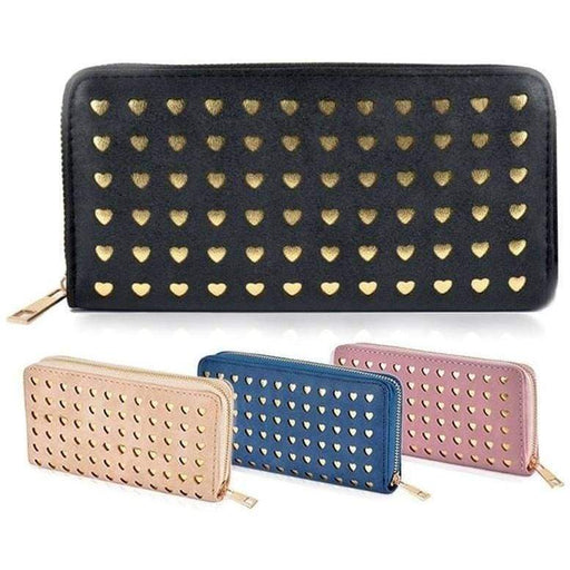 Womens Love Heart Laser Cut Purse Long Wallet High Quality Perfect Gifts - The Fashion Gift Shop Ltd
