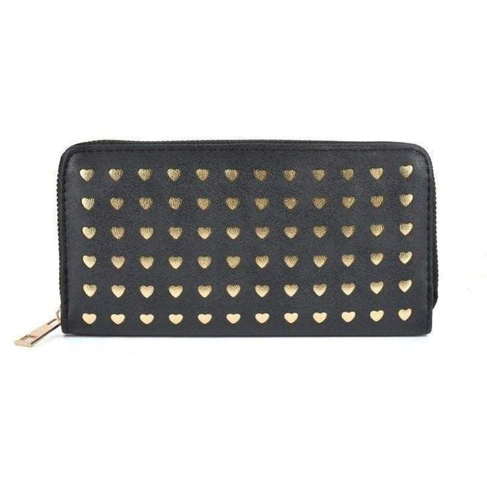 Womens Love Heart Laser Cut Purse Long Wallet High Quality Perfect Gifts - The Fashion Gift Shop