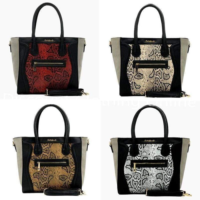 Womens Super High Quality Sally Young Designer Shoulder Bag Snake Skin Handbag - Gift Shop UK