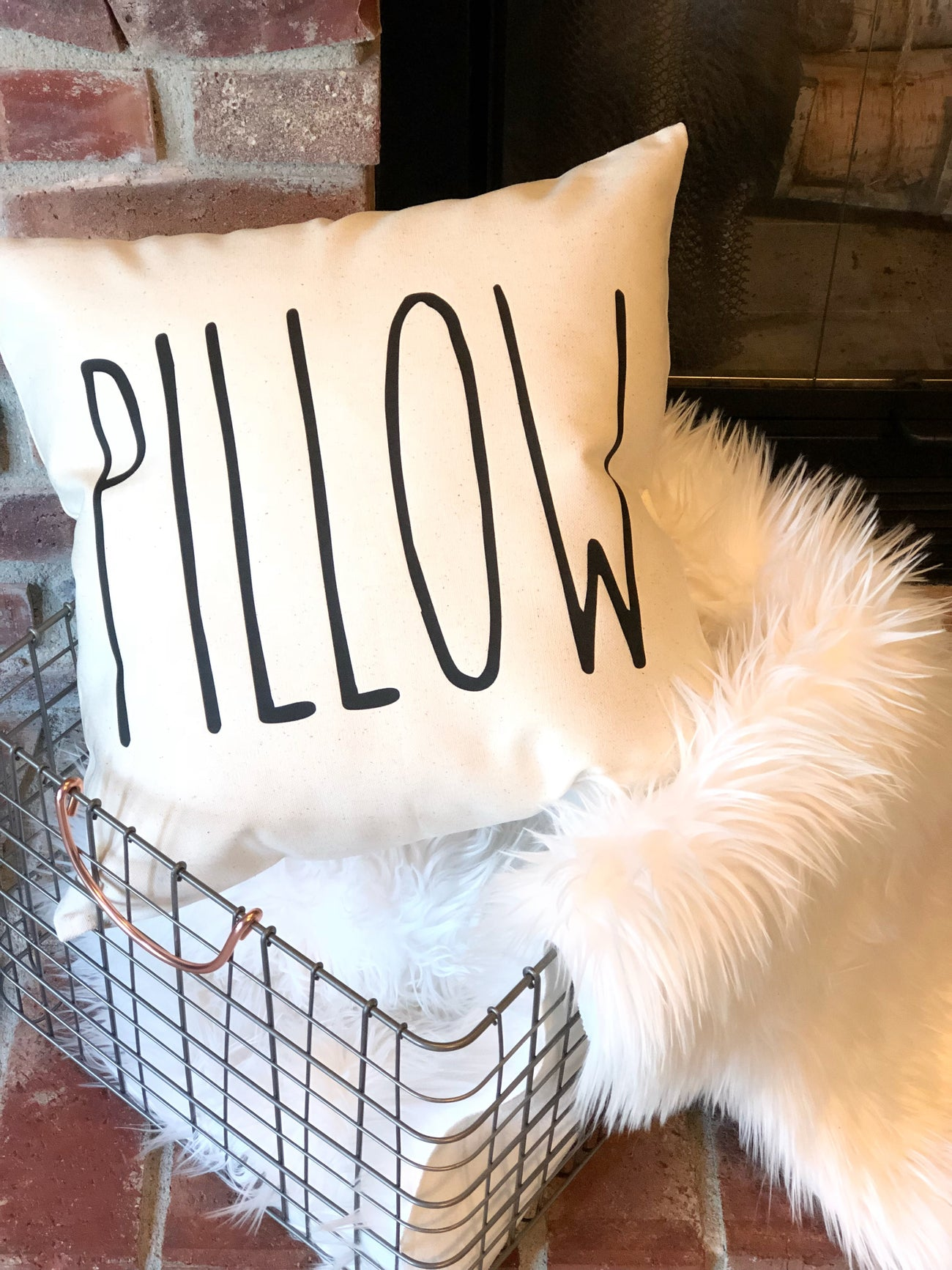 Rae Dunn Inspired Pillow Cover