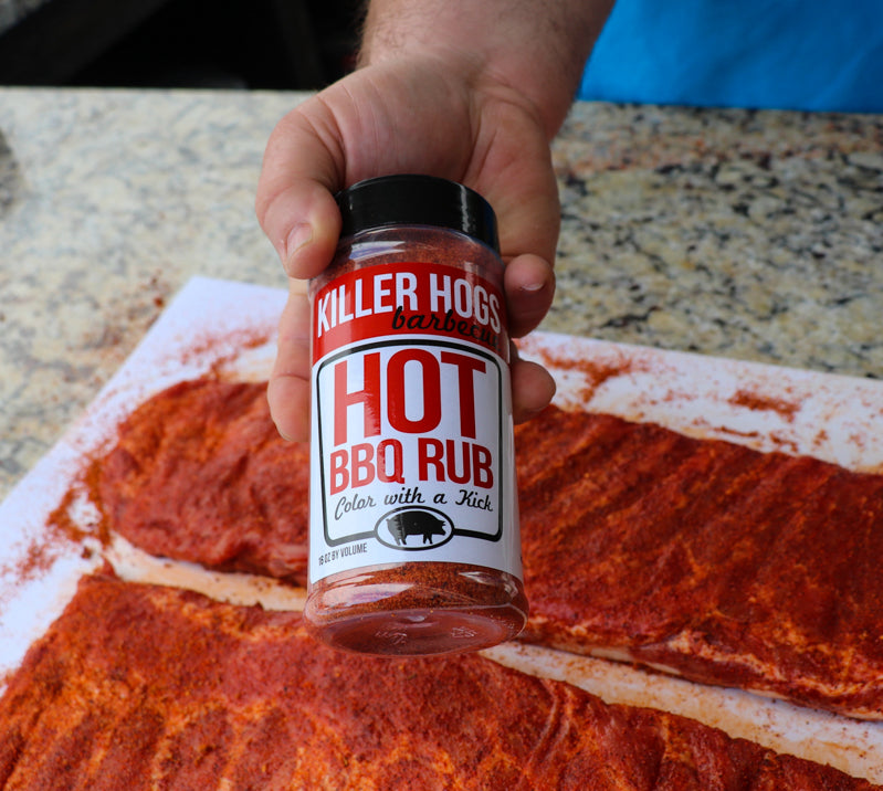 Killer Hogs Hot BBQ Rub.