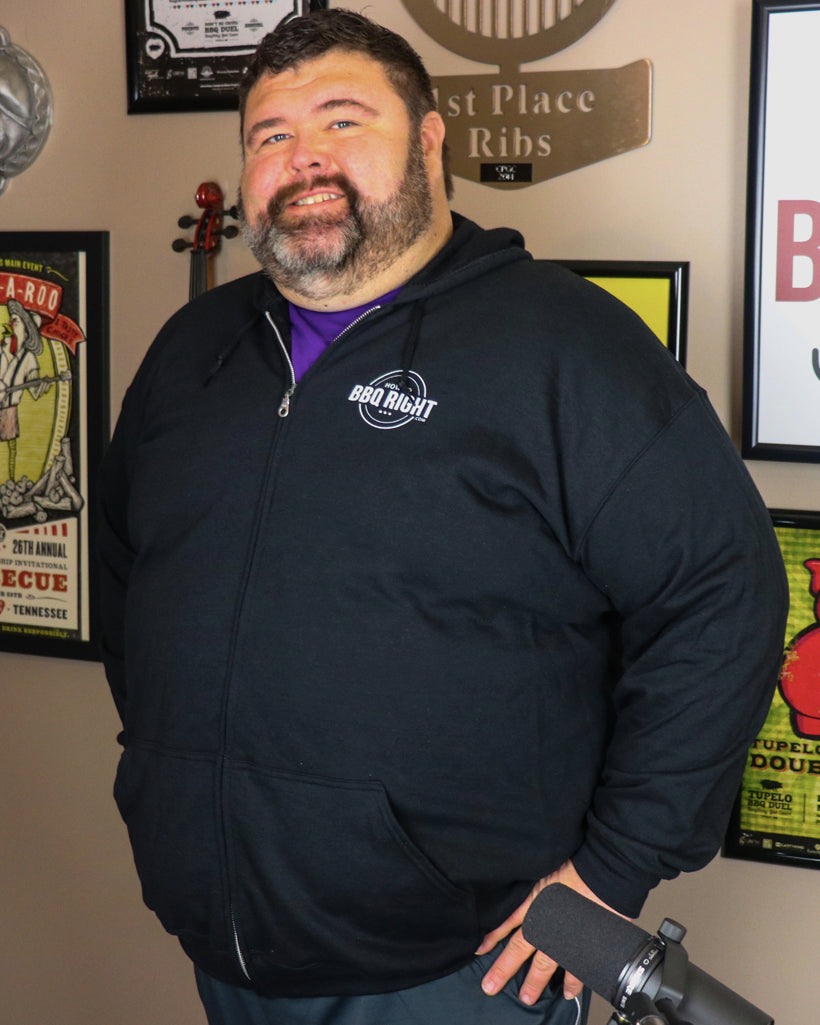 HowToBBQRight Black Full Zip Jacket